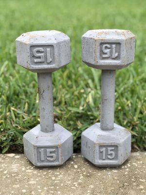 Set of DUMBBELLS 15 pounds for Sale in Dover, FL