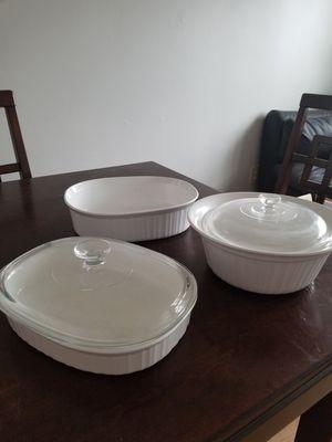 Corningware French White Ovenware for Sale in Bardonia, NY