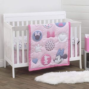 Disney Minnie Mouse Pretty in Pink 3 Piece Nursery Crib Bedding Set for Sale in Compton, CA