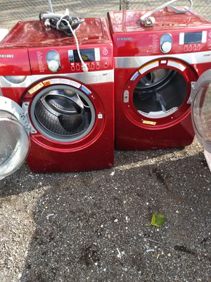Samsung heavy duty steam washer and dryer works great for Sale in Capitol Heights, MD