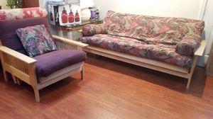 1 CHAIRS AND 1 FUTON BUT 2 COMFORTABLE BEDS ( READ DESCRIPTION AND SEE PICTURES) for Sale in MONTGOMRY VLG, MD