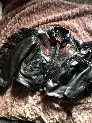 Hot Leathers Lady Rose Biker Jacket...Lg for Sale in Dallas, TX