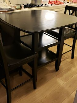 Bar Table With 4 Leather Chairs for Sale in Fremont,  CA
