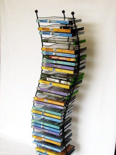 Artisan Modern Wave 140 DVD/BluRay Wave Tower or Wall Mount Storage Rack