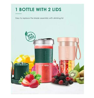 Portable Blender USB Rechargeable Bottle - BEYYON {link removed} Personal Blender for Shakes and Smoothies Fruit Juicer Mixer - pink for Sale in Pico Rivera, CA