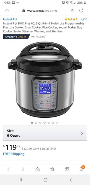 Never use instant pot DUO for Sale in Lighthouse Point, FL