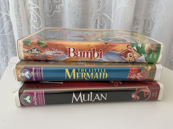 3 Collectible Disney VHS movies