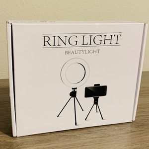Ring Light 6.3 Inches, 2 Tripod Sizes and Cellphone holder (New/Still in Box) for Sale in Houston, TX