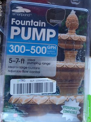 Fountains pump 300 to 500 gph for Sale in Bakersfield, CA