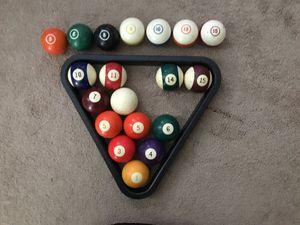 Pool balls Non complete 2 inch hollow billiard balls for Sale in McDonald, PA