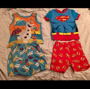 5T (Size 5) Boy Character—Superman / Justice League / Olaf) Pajama Bundle for Sale in Bountiful, UT