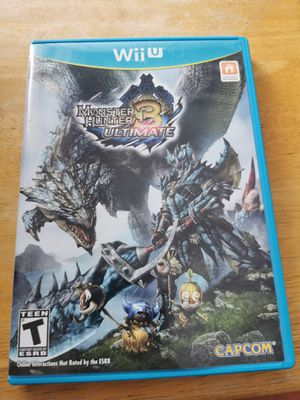 Nintendo Wii U monster hunter ultimate 3 for Sale in San Diego, CA