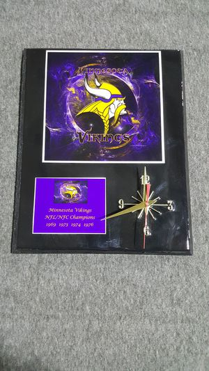 Minnesota Vikings Clock for Sale in Poland, NY
