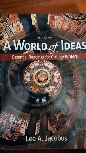 A world of ideas by lee a. Jacobus for Sale in Lynwood, CA