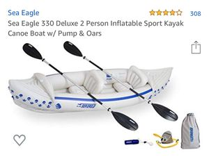 Sea Eagle 330 Deluxe 2 Person Inflatable Sport Kayak Canoe Boat for Sale in Pomona, CA