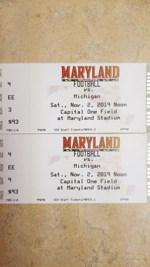 Maryland vs Michigan Football tickets for Sale in Hagerstown, MD