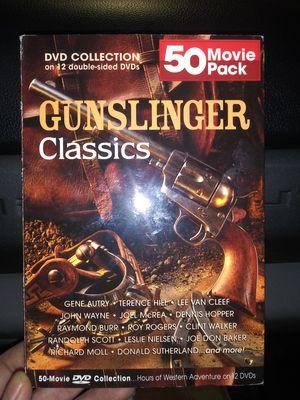 Gunslinger Classics Westerns John Wayne Donald Sutherland Gene Autry Joel McCrea Dennis Hopper Clint Walker for Sale in Mesquite, TX