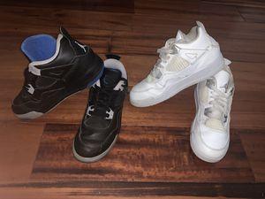 Boys size 3 white & black Jordan's! for Sale in Houston, TX