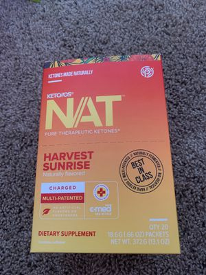Pruvit Ketones KETO/OS NAT Harvest Sunrise Charged, 1 Box of 20 Packs, Brain Health, Weight Loss, Energy for Sale in Arvada, CO