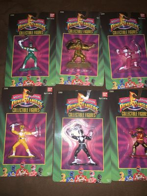 2300 power Ranger figures. 6 figures for $60 for Sale in Cypress, CA