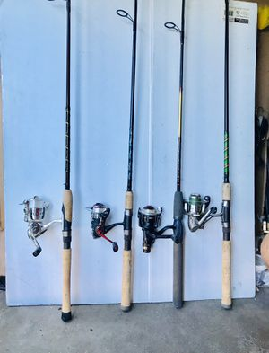 Fishing rods with reels $50 Each for Sale in Glendale Heights, IL