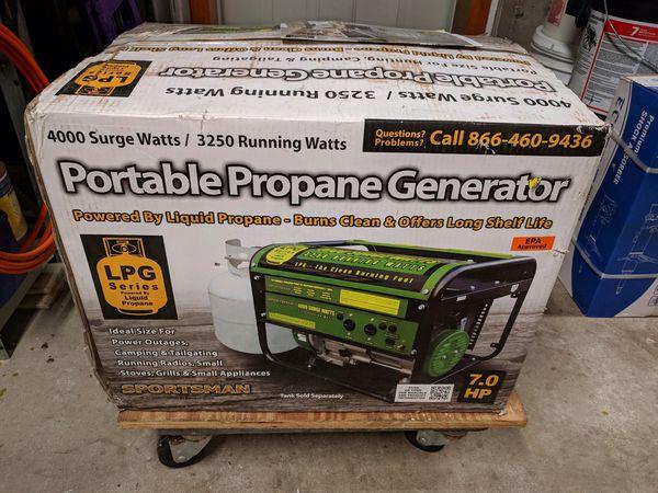 Portable propane generator new