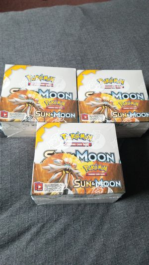 Pokemon sun and moon booster box for Sale in Everett, WA