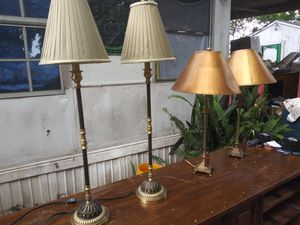 Beautiful lamps in great condition.. $15 each or all 4 for $40 for Sale in Tampa, FL