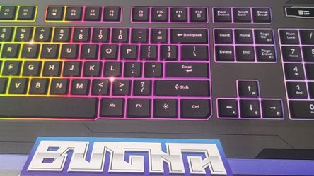Bugha Led Gaming Keyboard for Sale in Freeport,  NY