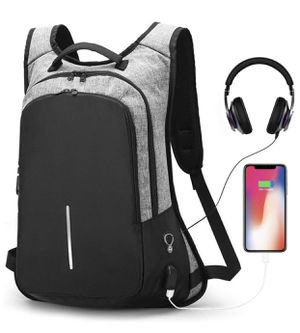 Anti-theft Smart Laptop Backpack with USB Charging Port & Headphone Hole, Professional Business Travel Computer Rucksack College Student School Casua for Sale in Miami, FL