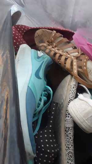 Toys an clothes all kinds stuff women's shoes size 7,2t kids for Sale in Rancho Cucamonga, CA