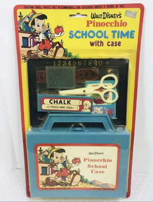 1983 vintage Disney's Pinocchio school time with Case Set is new in the packaging for Sale in Boston, MA