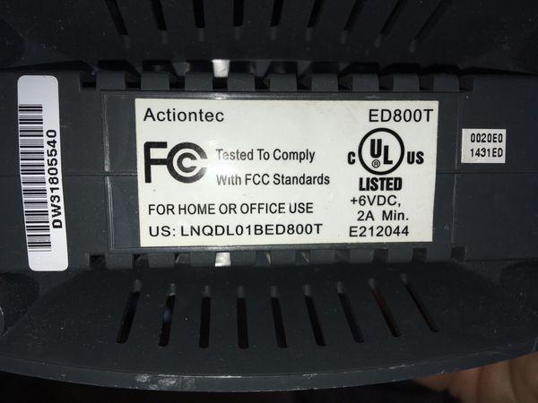 Home DSL Modem USB Ethernet Actiontec Modem