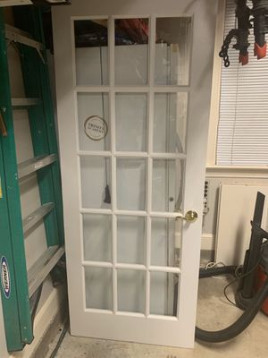 Doors (solid white and a glass paned) for Sale in Raleigh, NC