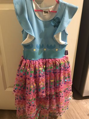 Troll girl costume rainbow dress M size 7/8 blue & pink pre-own perfect condition for Sale in Duluth, GA
