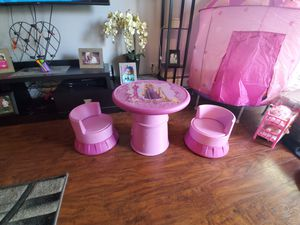 Kids table and chair castle Rapunzel for Sale in Mount Prospect, IL