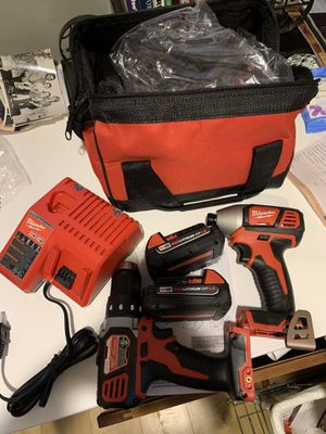 Milwaukee 18volt 2 tool combo with 2 batteries, charger and bag NEW for Sale in Bolingbrook, IL