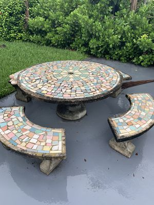 Free Patio Table: Bring a truck-Concrete Table EXTREMELY HEAVY for Sale in Miami, FL
