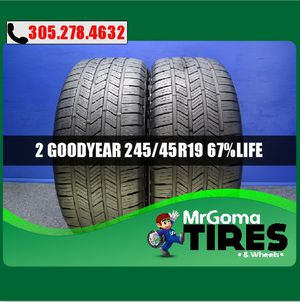 2 GOODYEAR EAGLE LS2 RSC RFT XL 245/45/19 USED TIRES NO PATCH LS-2 BMW 2454519 for Sale in Miami, FL