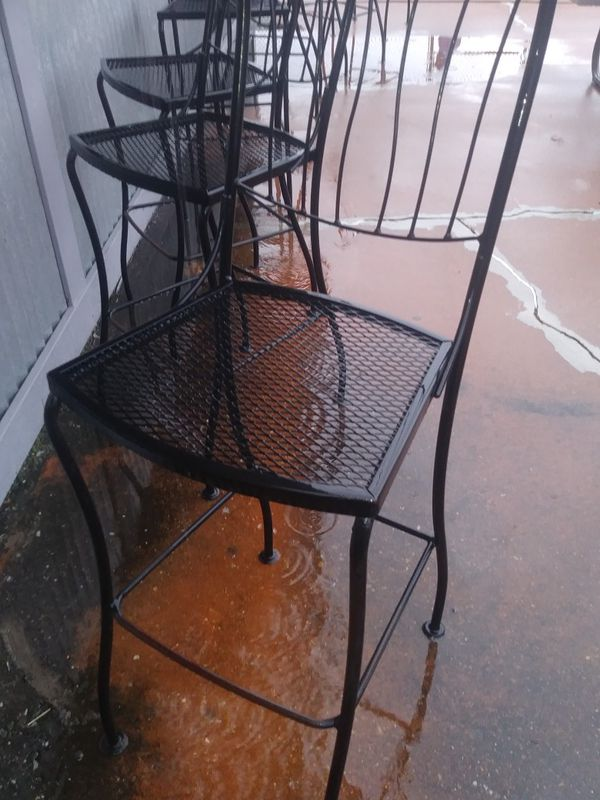 Cheap Sale on Tables.. Chairs.. Bar High Chairs.. All wrought iron.. TableSets$150. BarStools$30