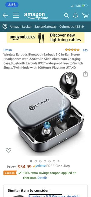 Brand New TWS Bluetooth 5.0 wireless earbuds headset SZSAGO W5s true wireless earphones for iPHONE/SAMSUNG IPX7 waterproof smart bluetooth headphones for Sale in Sunbury, OH