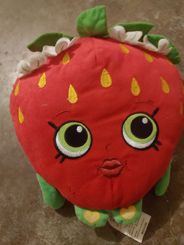 Shopkins strawberry pillow