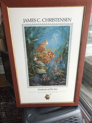 James Christensen Fantasies of the Sea Signed Poster, Mint, Framed w/First Ed. for Sale in Tallahassee, FL