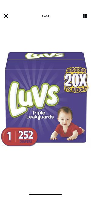 Diapers Newborn / Size 1 / 252 Count - Luvs Ultra Leakguards Disposable Baby Diap for Sale in Fairview, NJ