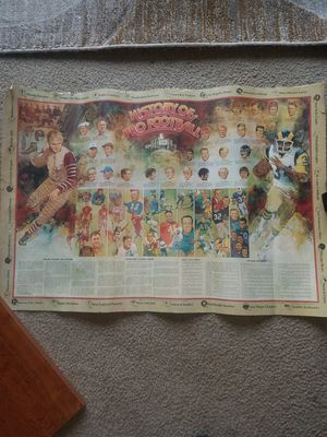 Vintage History of Football Poster for Sale in Fairfax, VA