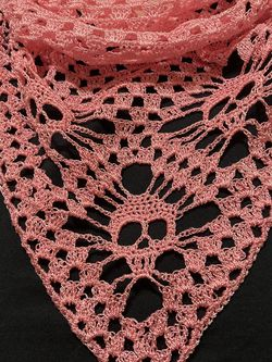 """One Of A Kind Handmade Sugar Skull Neck Warmer /Shawl 46"""" by 18 1/2"""" for Sale in Chicago,  IL"""