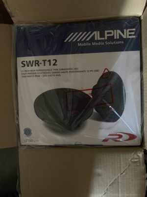 Alpine SWR-T12 for Sale in Brooklyn, NY