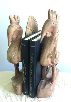 Vintage Carved Wooden Rooster Bookends for Sale in Siler City, NC