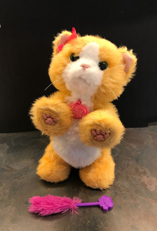 PRICE LOWERED! Furreal friends Daisy Cat robotic toy with feather wand