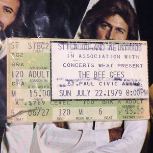 Bee Gee Concert Ticket 1979 + Program From Show Special!! Ticket From Added Show July 22nd for Sale in Tustin, CA